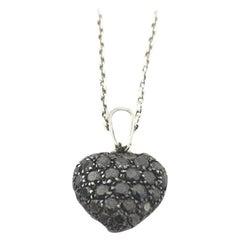 Chopard Black Diamond Heart Necklace 79/4203/50W