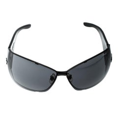 Chopard Black Monogram SCH637 Shield Sunglasses