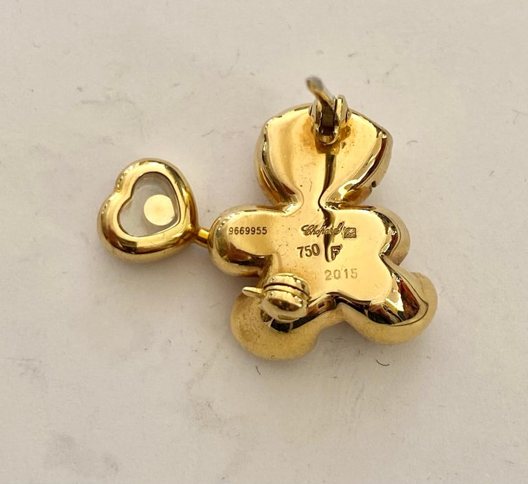 Chopard, Brooch, Bear with Happy Diamond Balloon In New Condition For Sale In Heerlen, NL