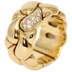 Chopard Casmir 18 Karat Yellow Gold and Diamond Ring