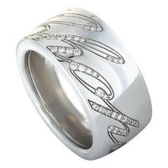 Chopard Chopardissimo 18 Karat White Gold Diamond Signature Band Ring