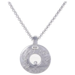 Chopard Chopardissimo 18 Karat White Gold Floating Diamond Pendant Necklace