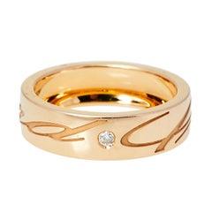 Chopard Chopardissimo 18K Rose Gold Band Ring Size EU 57