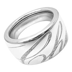 Chopard Chopardissimo Diamond Signature White Gold Wide Band Ring