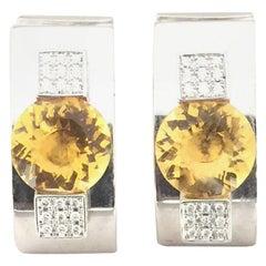 Chopard Citrine and Diamond Earrings 84/3837/20W