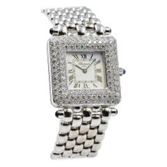 Chopard Classic Square, 106889-1001, 18 Karat White Gold with Diamond Bezel