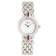 Chopard Ladies White Gold Diamond Quartz Wristwatch