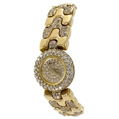 Chopard Diamond 18 Karat Yellow Gold Ladies Watch Gold Diamond Bracelet