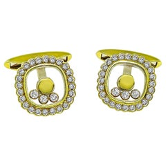 Chopard Diamond Gold Cufflinks