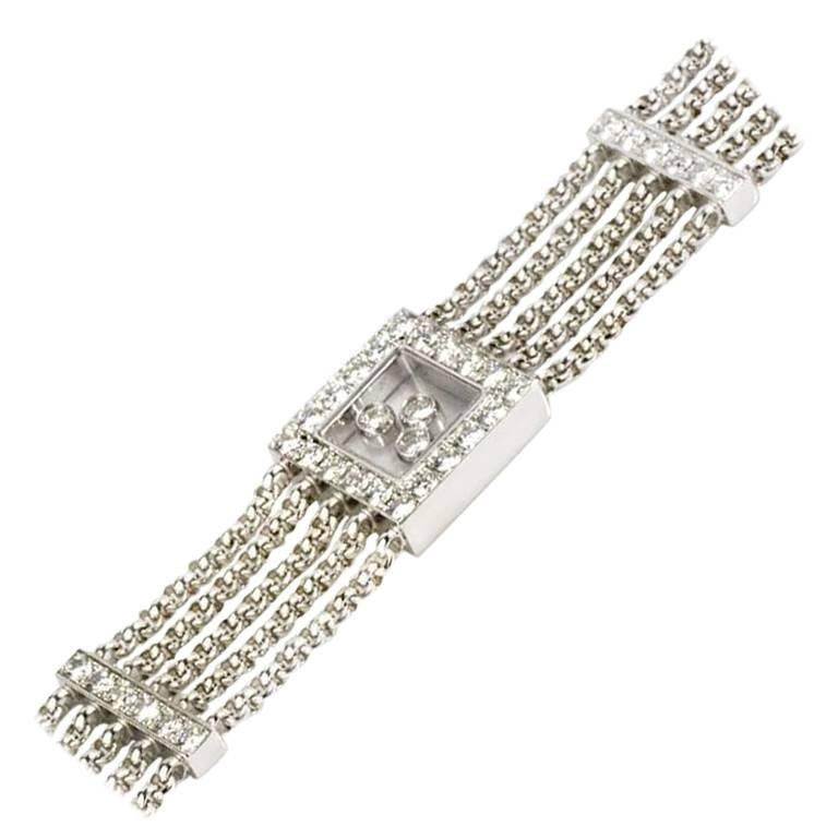 Chopard Diamond Happy Curves Bracelet In Excellent Condition For Sale In London, GB