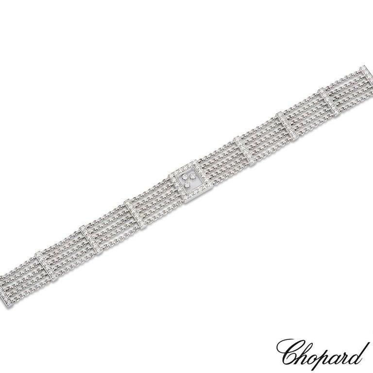 Women's Chopard Diamond Happy Curves Bracelet For Sale
