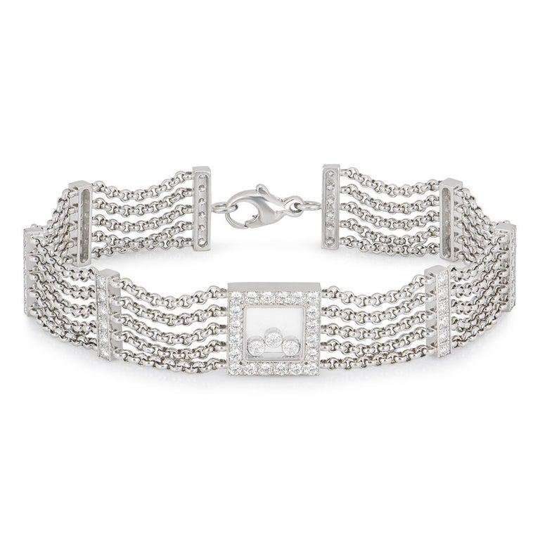 Chopard Diamond Happy Curves Bracelet For Sale 1