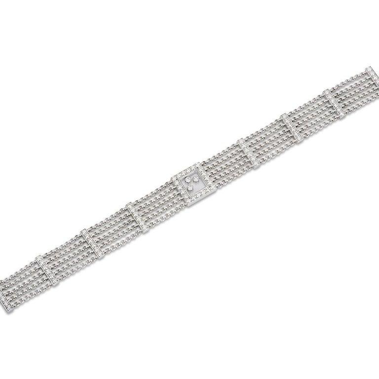 Chopard Diamond Happy Curves Bracelet For Sale 2