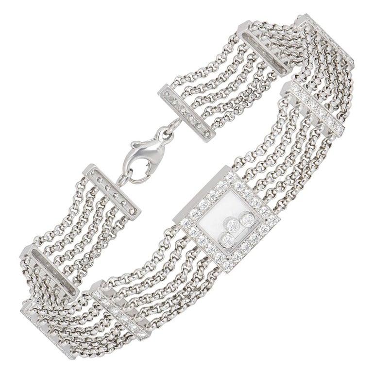 Chopard Diamond Happy Curves Bracelet For Sale