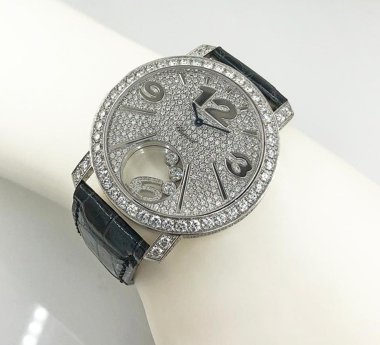 Chopard Diamond Happy Sports Watch In Good Condition For Sale In New York, NY