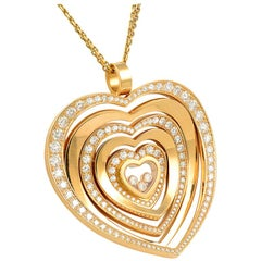 Chopard Diamond Gold Heart Pendant