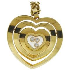 Chopard Diamond Pendant Necklace in 18 Karat Yellow Gold