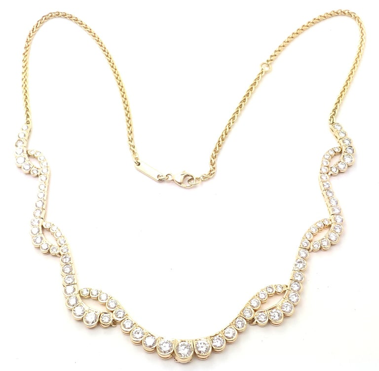 Chopard Diamond Yellow Gold Necklace For Sale 5