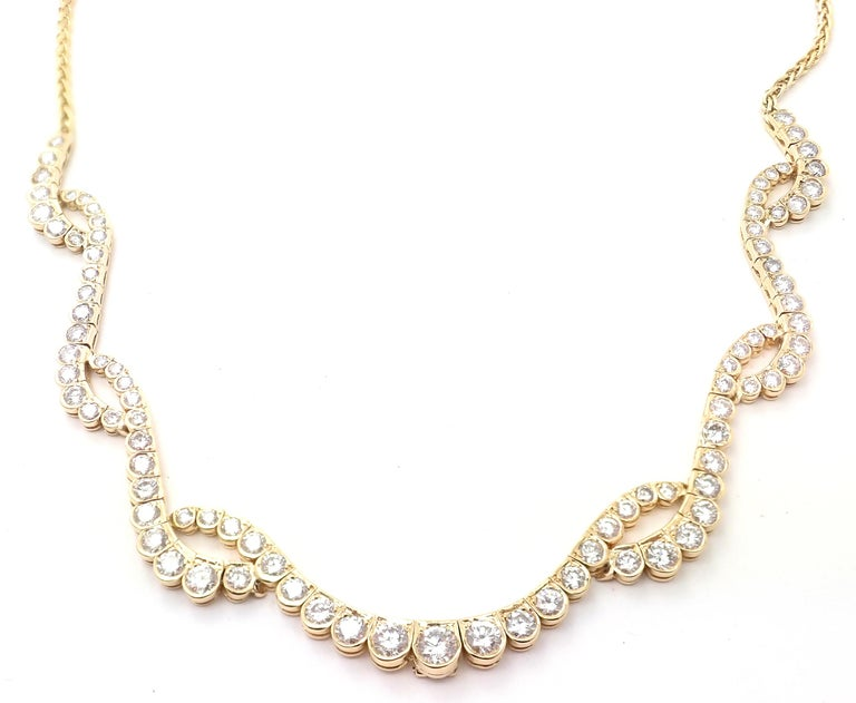 Chopard Diamond Yellow Gold Necklace For Sale 6