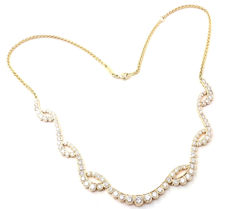 18k Yellow Gold Diamond Necklace by Chopard.  With 89 Round brilliant cut diamonds = VS1 clarity, G color total weight approximately 5ct Details: Length: 18
