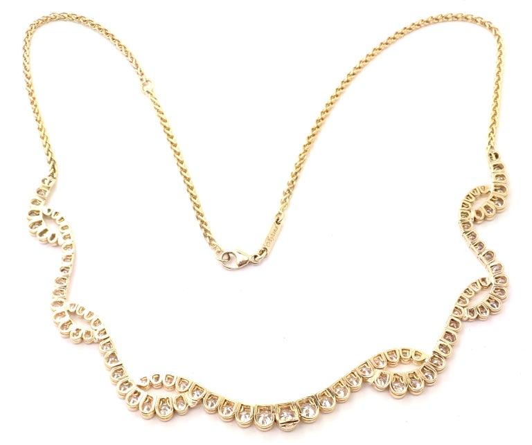Brilliant Cut Chopard Diamond Yellow Gold Necklace For Sale