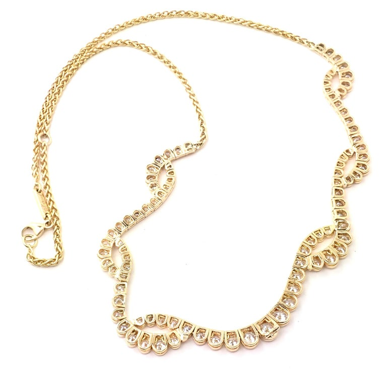 Chopard Diamond Yellow Gold Necklace In Excellent Condition For Sale In Holland, PA