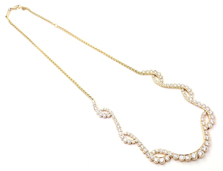 Women's or Men's Chopard Diamond Yellow Gold Necklace For Sale