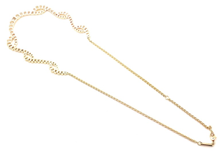 Chopard Diamond Yellow Gold Necklace For Sale 1
