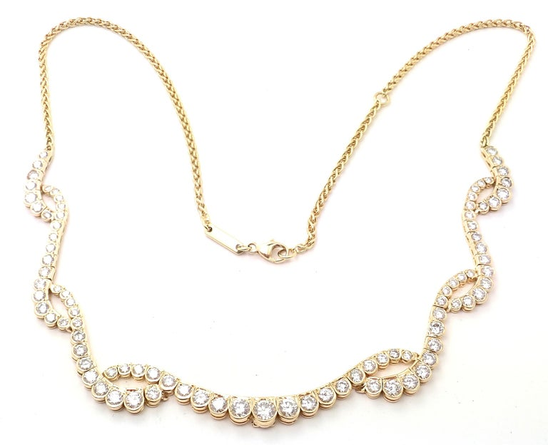 Chopard Diamond Yellow Gold Necklace For Sale 4