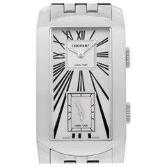 Chopard Dual Time 162274-1001 18 Karat White Gold Bracelet Automatic Watch
