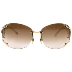 Chopard Floating Diamonds Ivory & Gold Sunglasses
