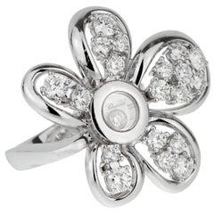 Chopard Flower Diamond White Gold Ring