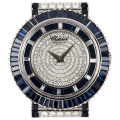 Chopard Fully Loaded Diamond and Blue Sapphire Set Watch 143001-1003