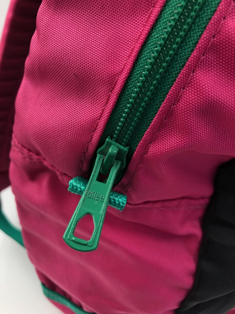 Chopard Genève Pink Nylon Backpack with Battery Operated Clock  In Good Condition In Los Angeles, CA