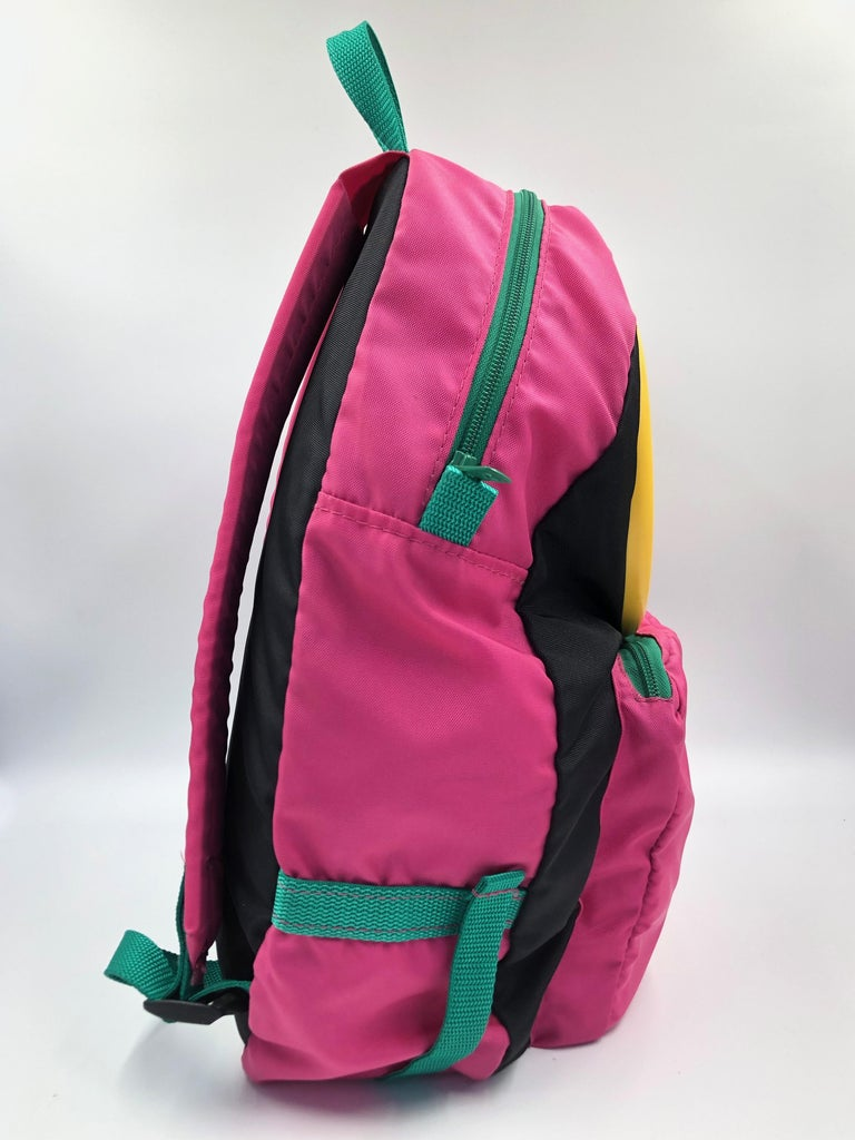 Chopard Genève Pink Nylon Backpack with Battery Operated Clock  1