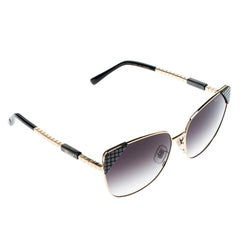 Chopard Gold/Black Gradient Ceramic SCHC41 Cat Eye Sunglasses