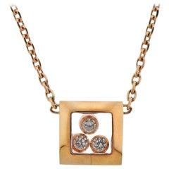 Chopard Gold Happy Curves Diamond Pendant Necklace 819224-5001