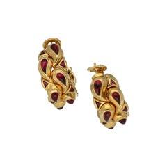 Chopard Gold Rubellite Tourmaline Casmir Earrings