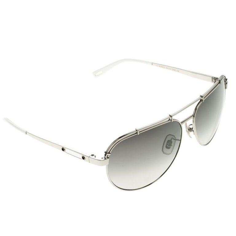370ef1190fdd Chopard Grey Titanium SCHA12 Aviator Sunglasses For Sale at 1stdibs