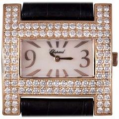 Chopard H Rose Gold Mother of Pearl Dial 39224-5002 Diamond Bezel Quartz