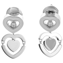 Chopard Happy Amore Diamond White Diamond Dangle Earrings