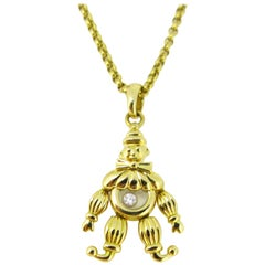 Chopard Happy Clown Happy Diamond Yellow Gold Pendant Necklace