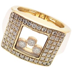 Chopard Happy Curves Diamond Yellow Gold Ring
