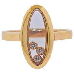 Chopard Happy Curves Rose Gold Diamond Oval Ring