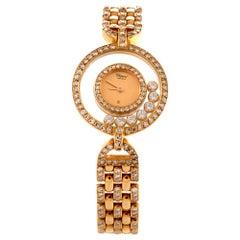 Chopard Happy Diamond 18 Karat Gold Ladies Watch Refrence 4066