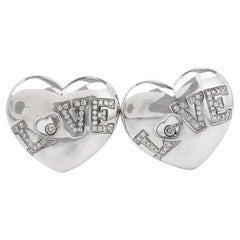 Chopard Happy Diamond 18K Gold Designer Clip on Earrings