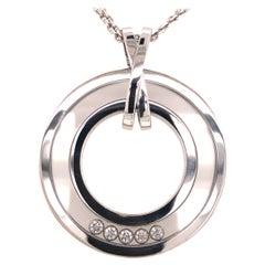 Chopard Happy Diamond 18k White Gold Double Strand Necklace