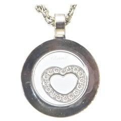 Chopard Happy Diamond 18K White Gold Pendant Necklace
