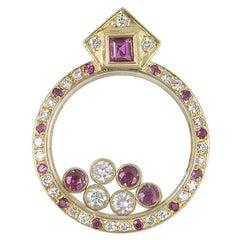 Chopard Happy Diamond and Ruby Pendant