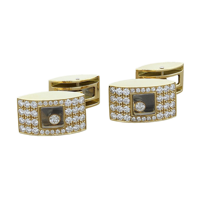 Chopard Happy Diamond Gold Cufflinks